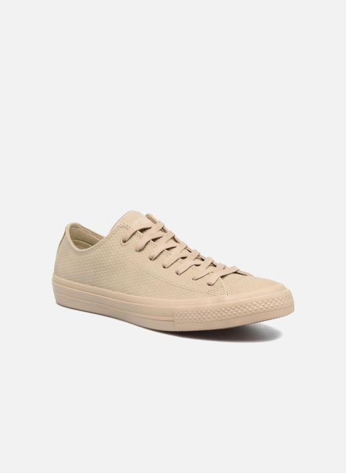 Sneakers Converse Chuck Taylor All Star II Ox Lux Leather Beige detaljeret billede af skoene