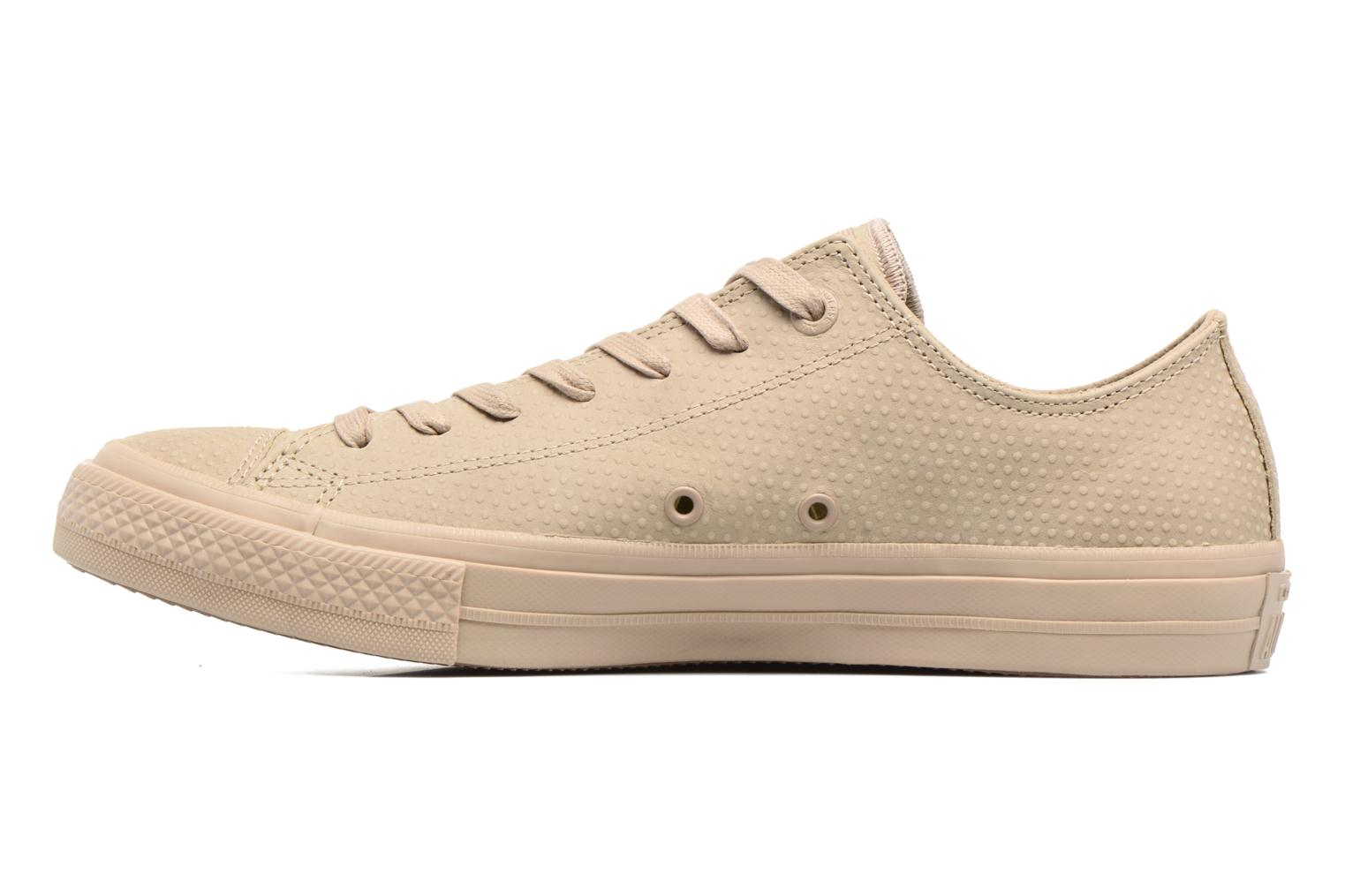 Baskets Converse Chuck Taylor All Star II Ox Lux Leather Beige vue face