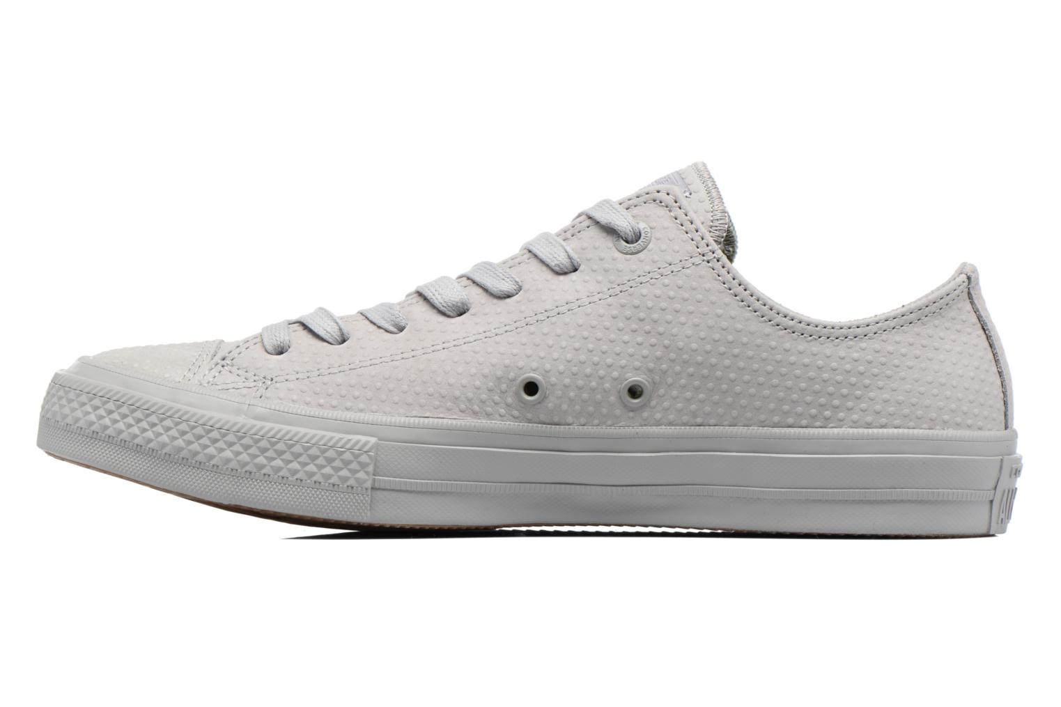 Baskets Converse Chuck Taylor All Star II Ox Lux Leather Gris vue face