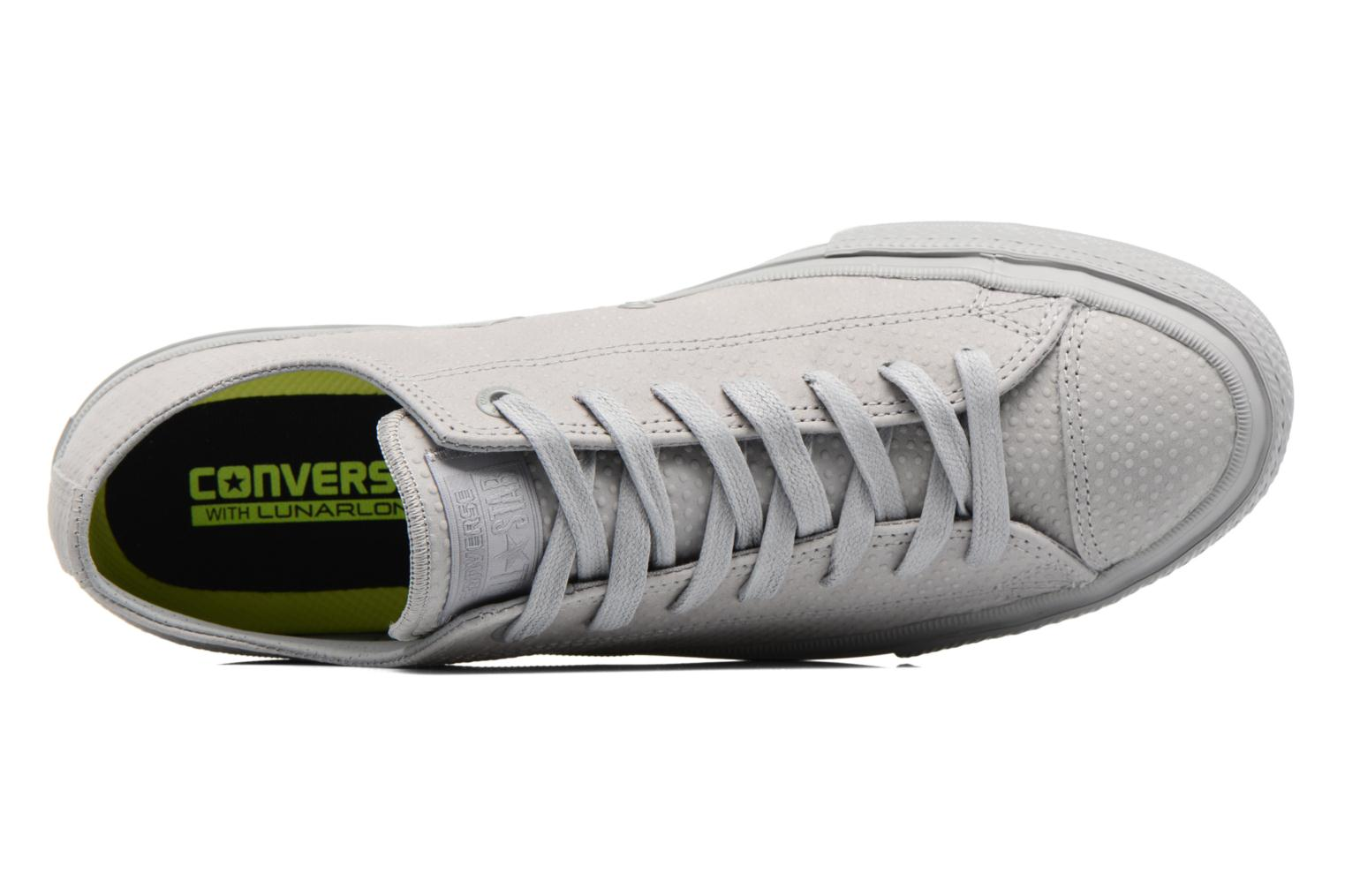 Sneakers Converse Chuck Taylor All Star II Ox Lux Leather Grigio immagine sinistra