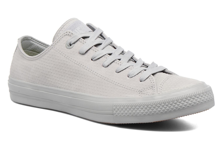Baskets Converse Chuck Taylor All Star II Ox Lux Leather Gris vue détail/paire