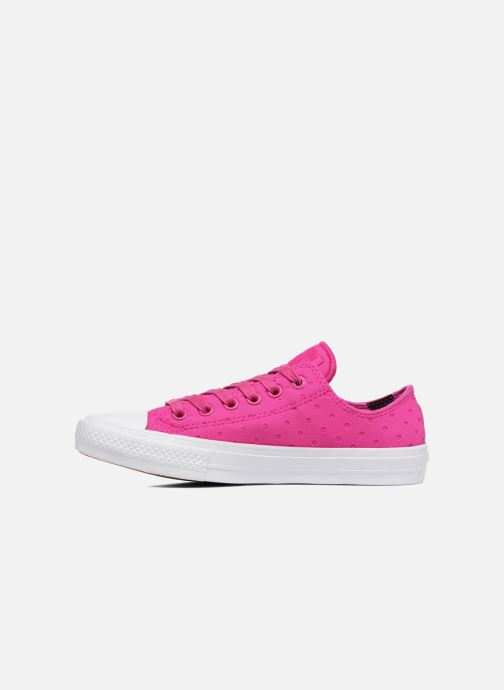 Sneakers Converse Chuck Taylor All Star II Ox Shield Lycra Rosa immagine frontale