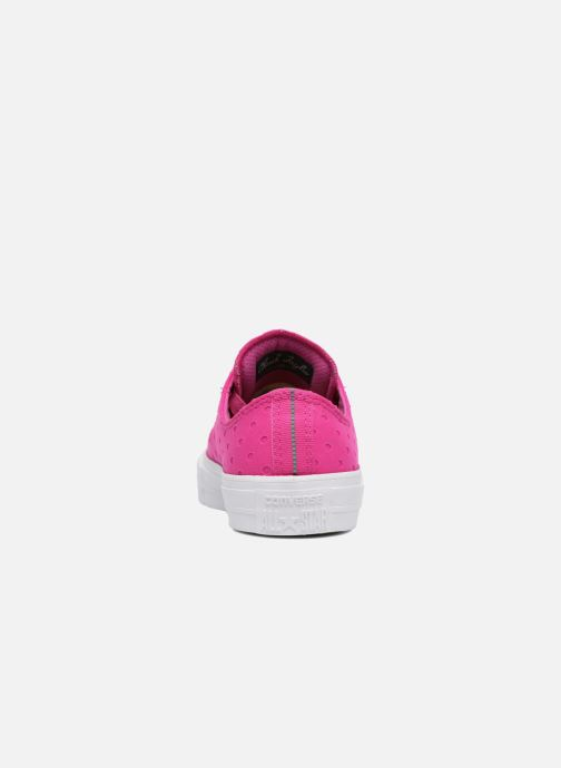 Trainers Converse Chuck Taylor All Star II Ox Shield Lycra Pink view from the right