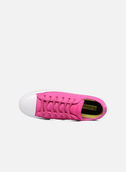 Sneakers Converse Chuck Taylor All Star II Ox Shield Lycra Rosa immagine sinistra