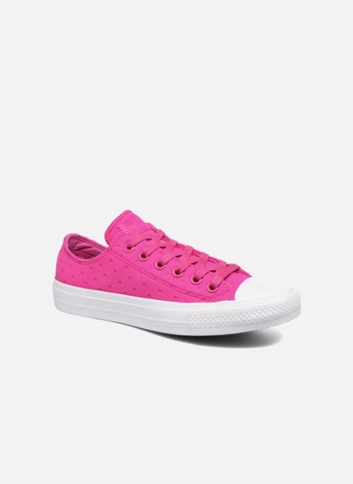 Baskets Converse Chuck Taylor All Star II Ox Shield Lycra Rose vue détail/paire