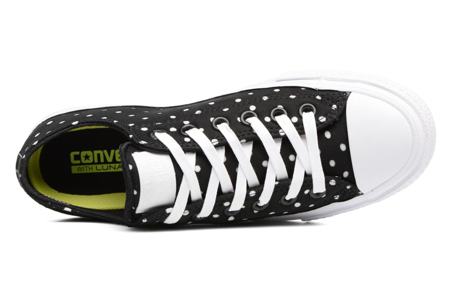 Sneakers Converse Chuck Taylor All Star II Ox Shield Lycra Nero immagine sinistra