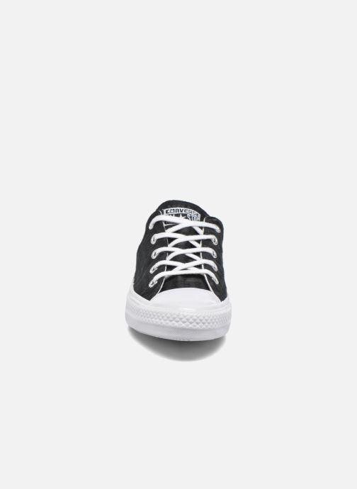 Baskets Converse Chuck Taylor All Star Gemma Ox Engineered Lace Noir vue portées chaussures