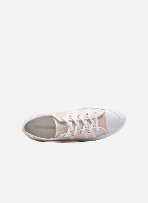 Sneakers Converse Chuck Taylor All Star Gemma Ox Engineered Lace Rosa immagine sinistra