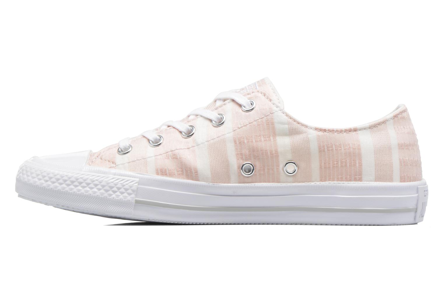 Deportivas Converse Chuck Taylor All Star Gemma Ox Engineered Lace Rosa vista de frente