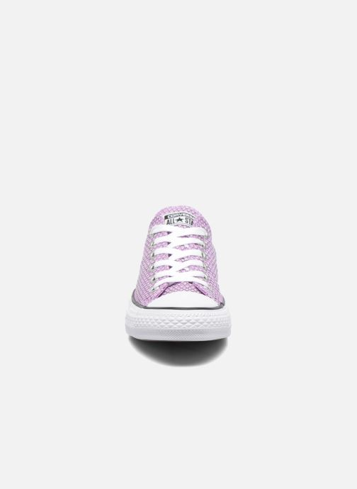 Baskets Converse Chuck Taylor All Star Ox Snake Woven Violet vue portées chaussures