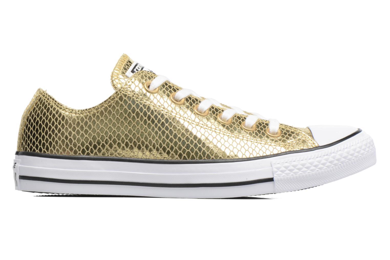 Baskets Converse Chuck Taylor All Star Ox Metallic Snake Leather Or et bronze vue derrière