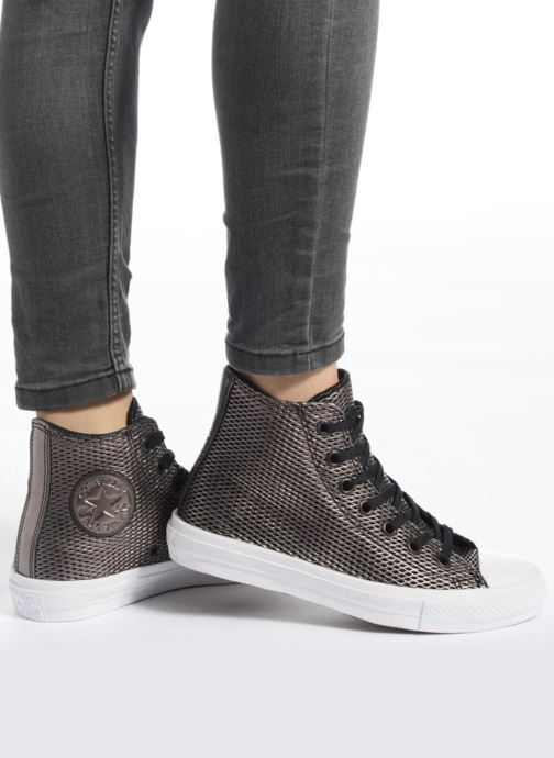 Taylor Converse white Chuck Ii Baskets All Hi Leather black Metallic Black Star Perf IbWEeD2YH9