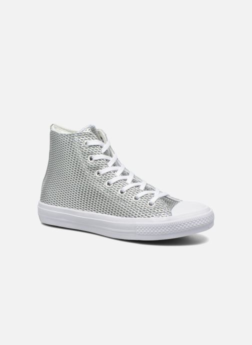 dfb69ca70d7798 Trainers Converse Chuck Taylor All Star II Hi Perf Metallic Leather Silver  detailed view  Pair