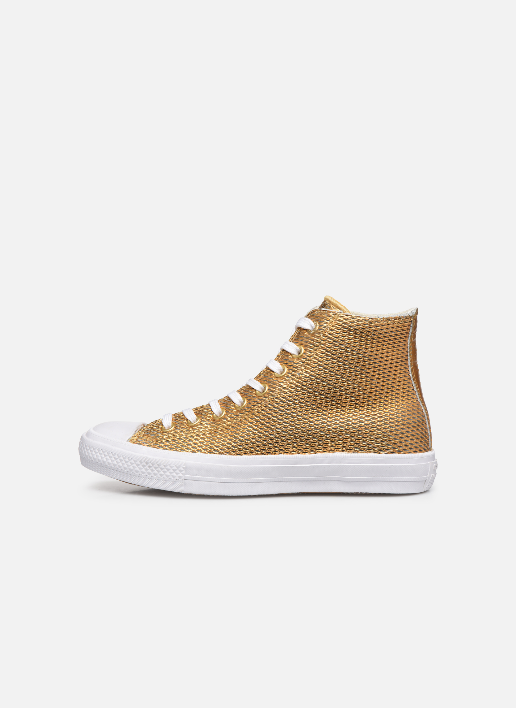Deportivas Converse Chuck Taylor All Star II Hi Perf Metallic Leather Oro y bronce vista de frente