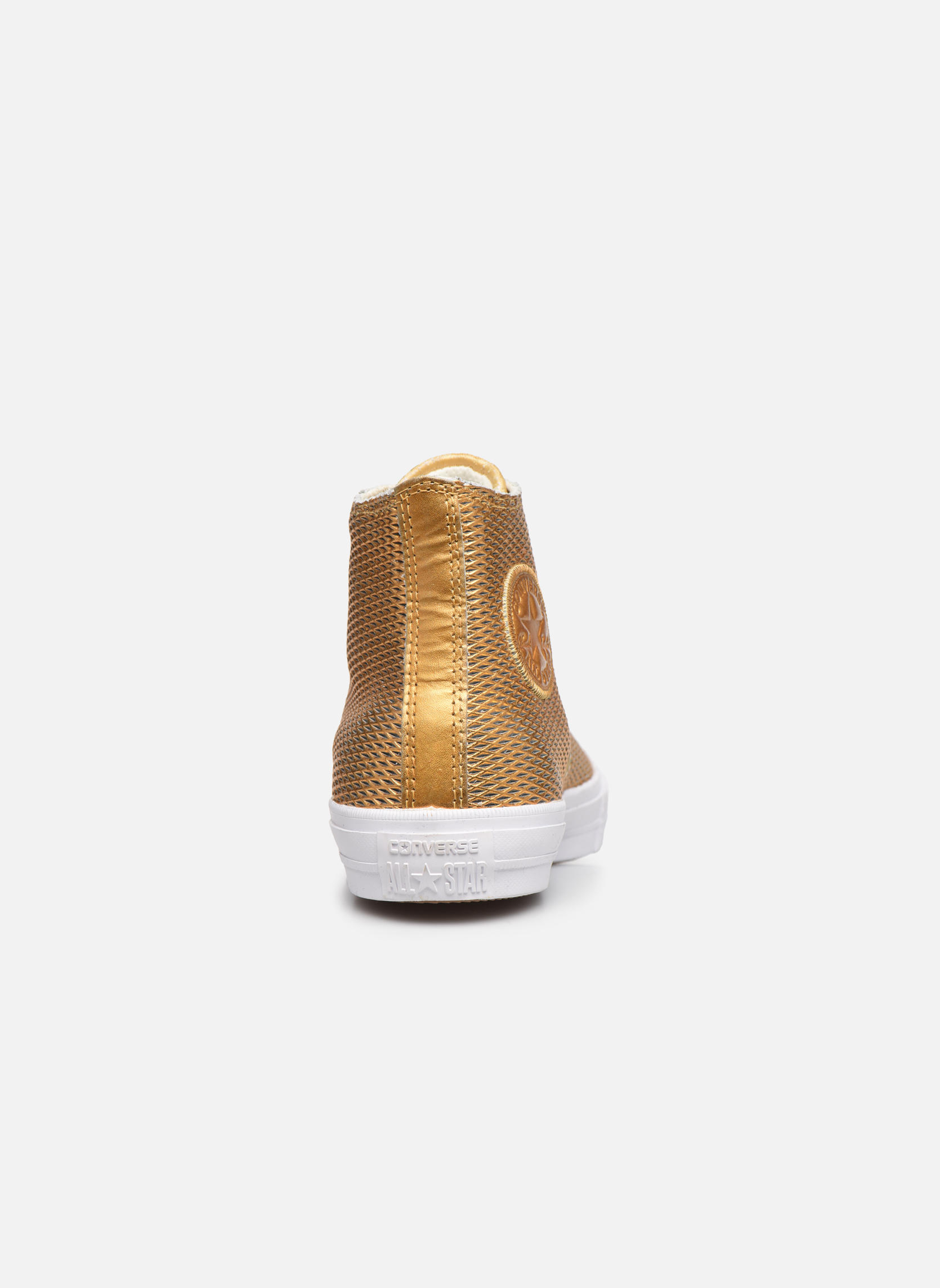 Deportivas Converse Chuck Taylor All Star II Hi Perf Metallic Leather Oro y bronce vista lateral derecha