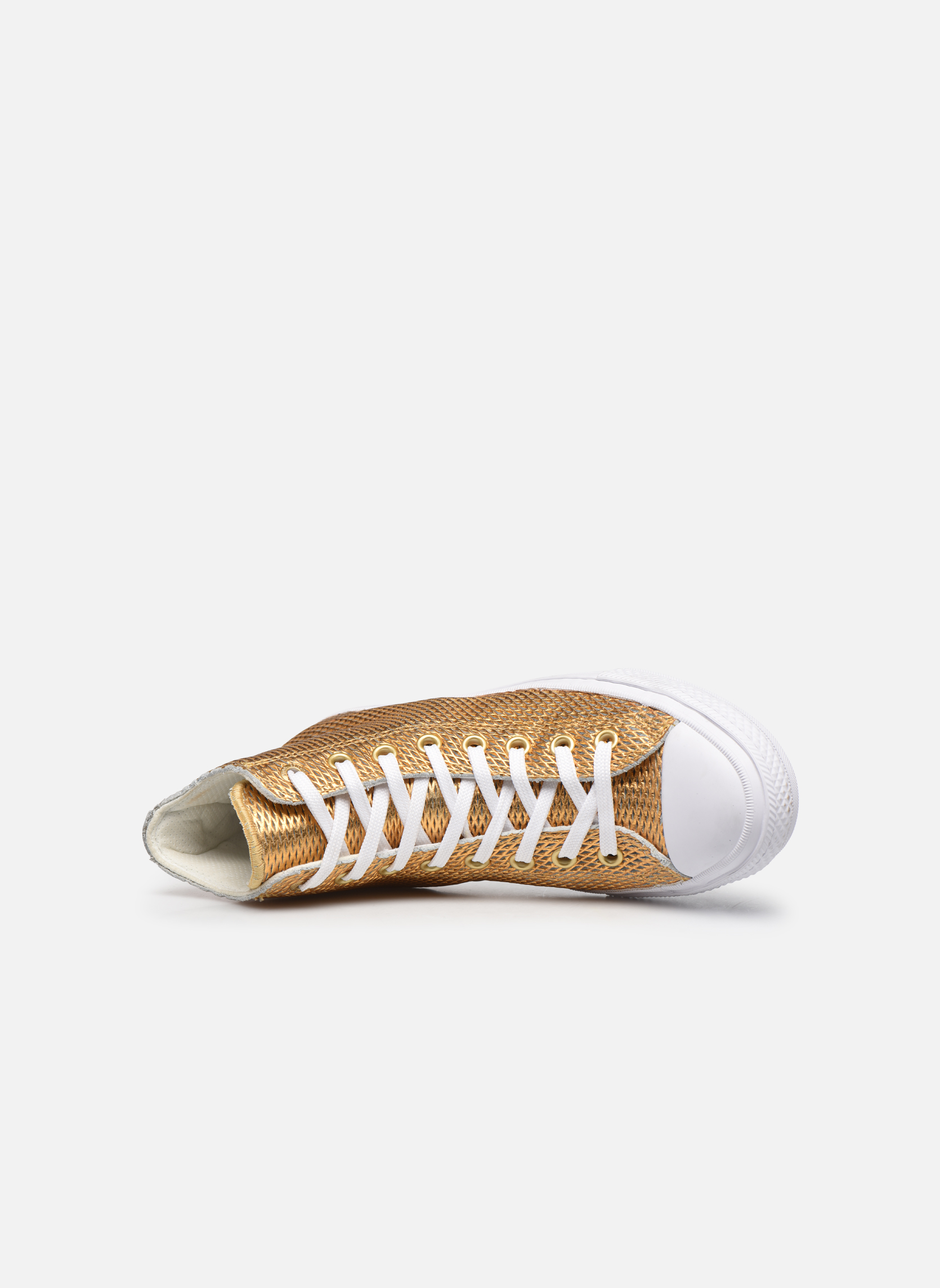 Deportivas Converse Chuck Taylor All Star II Hi Perf Metallic Leather Oro y bronce vista lateral izquierda