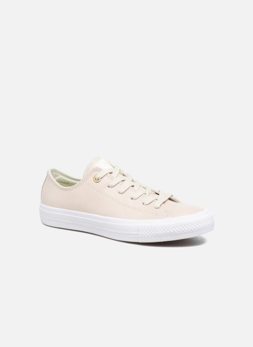 8eeee6bb9ad80f Trainers Converse Chuck Taylor All Star II Ox Craft Leather Beige detailed  view  Pair view