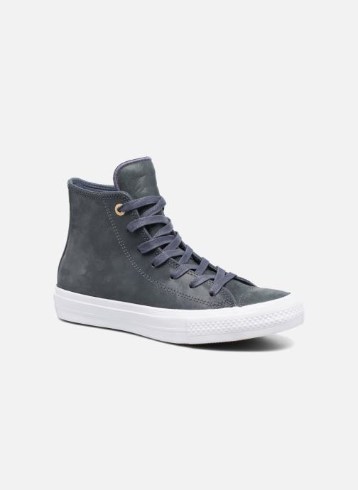 6042ce00ab8c9 Baskets Converse Chuck Taylor All Star II Hi Craft Leather Bleu vue  détail paire