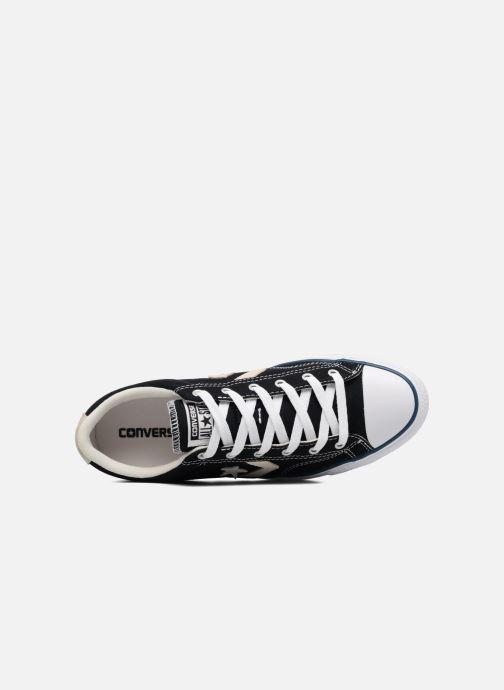 Sneaker Converse Star Player Ox Evergreen schwarz ansicht von links