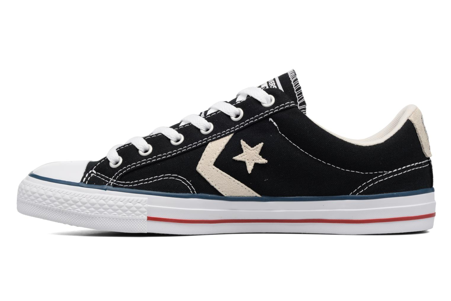 Baskets Converse Star Player Ox Evergreen Noir vue face