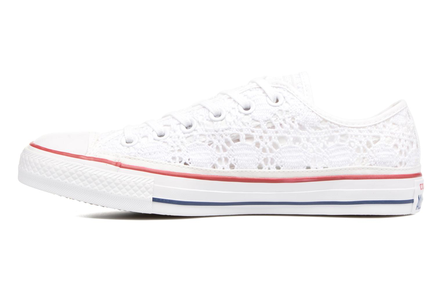 Sneakers Converse Chuck Taylor All Star Ox Italy Crochet Bianco immagine frontale
