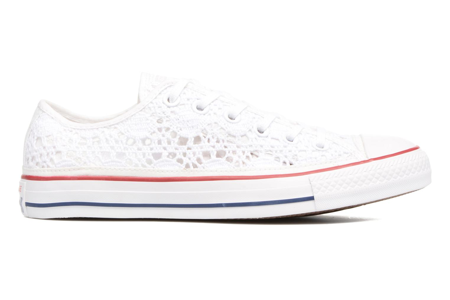 Sneakers Converse Chuck Taylor All Star Ox Italy Crochet Bianco immagine posteriore