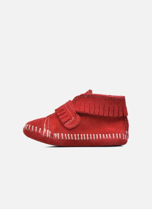 Botines  Minnetonka Front Strap Bootie Rojo vista de frente