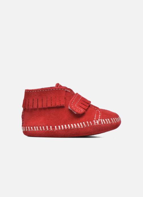 Stiefeletten & Boots Minnetonka Front Strap Bootie rot ansicht von hinten