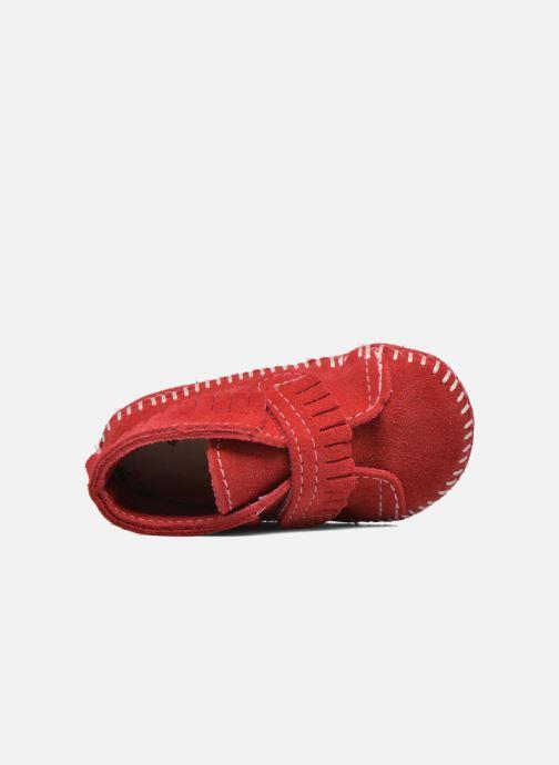 Botines  Minnetonka Front Strap Bootie Rojo vista lateral izquierda