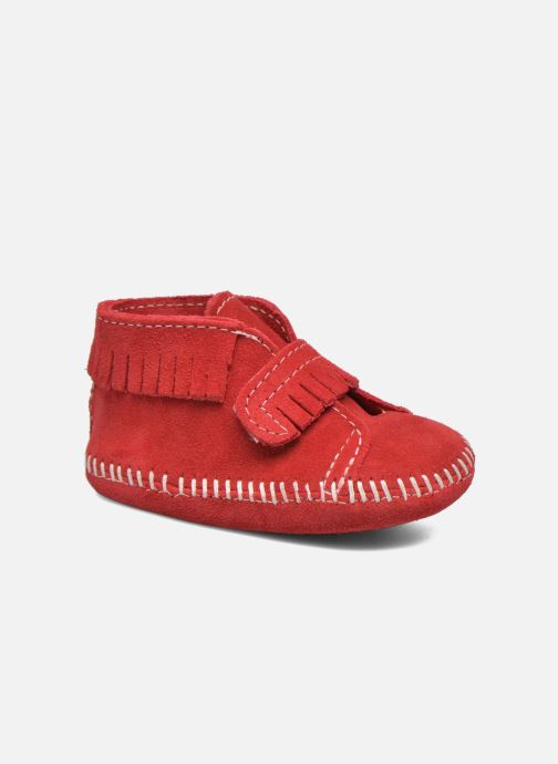 Boots en enkellaarsjes Minnetonka Front Strap Bootie Rood detail