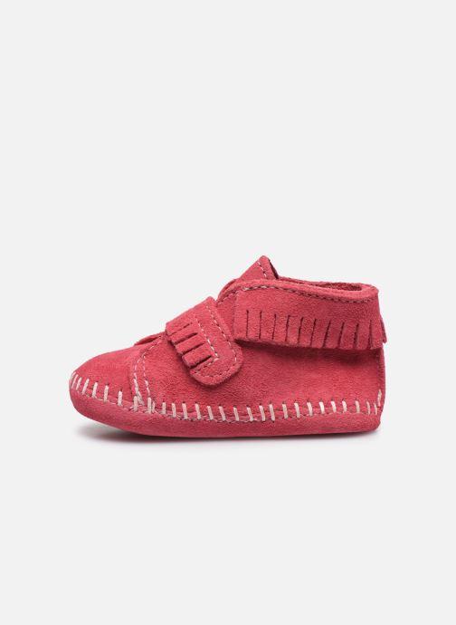 Stiefeletten & Boots Minnetonka Front Strap Bootie rosa ansicht von vorne