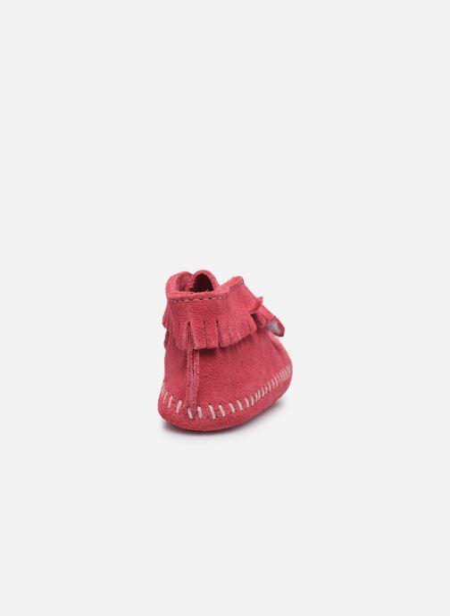 Bottines et boots Minnetonka Front Strap Bootie Rose vue droite