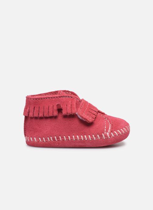 Stiefeletten & Boots Minnetonka Front Strap Bootie rosa ansicht von hinten