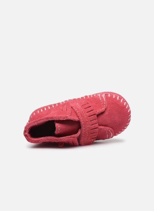 Stiefeletten & Boots Minnetonka Front Strap Bootie rosa ansicht von links