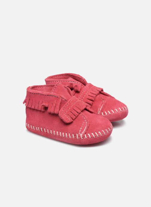 Bottines et boots Minnetonka Front Strap Bootie Rose vue détail/paire