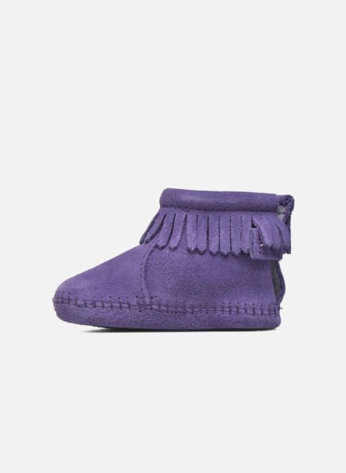 Bottines et boots Minnetonka Back Strap Bootie Violet vue face