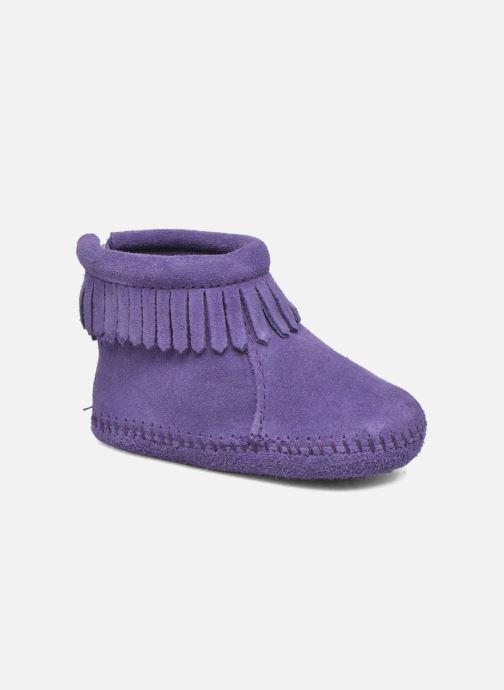Ankelstøvler Minnetonka Back Strap Bootie Lilla detaljeret billede af skoene