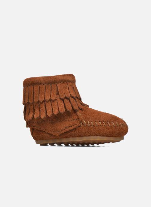Bottines et boots Minnetonka Double Fringe side zip boot B Marron vue derrière