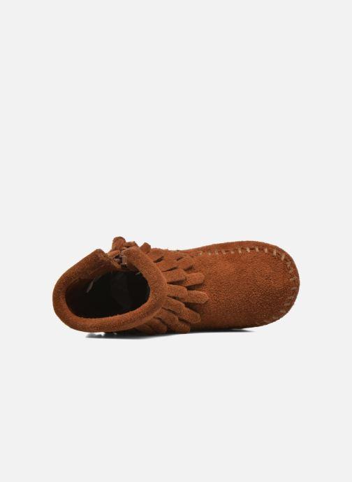 Stivaletti e tronchetti Minnetonka Double Fringe side zip boot B Marrone immagine sinistra