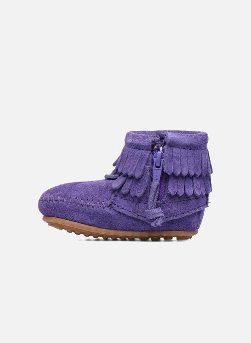 Botines  Minnetonka Double Fringe side zip boot B Violeta      vista de frente