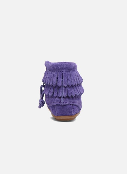 Botines  Minnetonka Double Fringe side zip boot B Violeta      vista lateral derecha