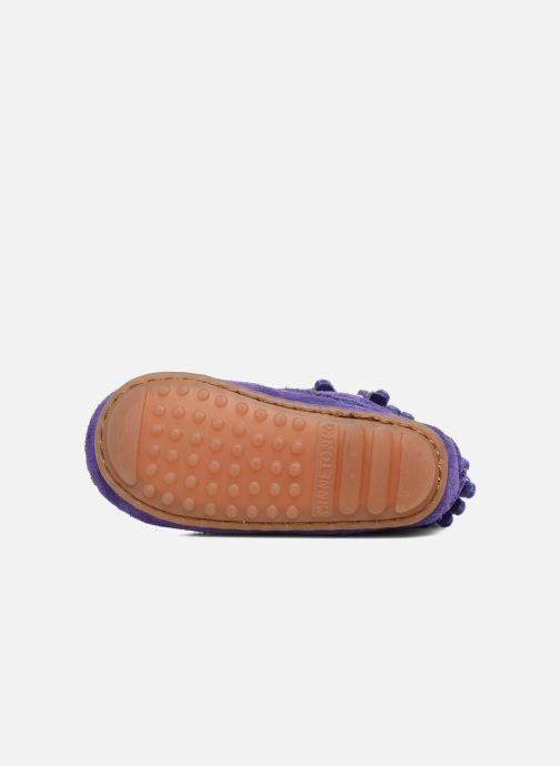 Bottines et boots Minnetonka Double Fringe side zip boot B Violet vue haut