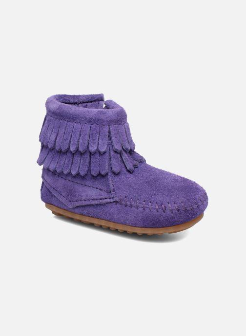 Bottines et boots Minnetonka Double Fringe side zip boot B Violet vue détail/paire