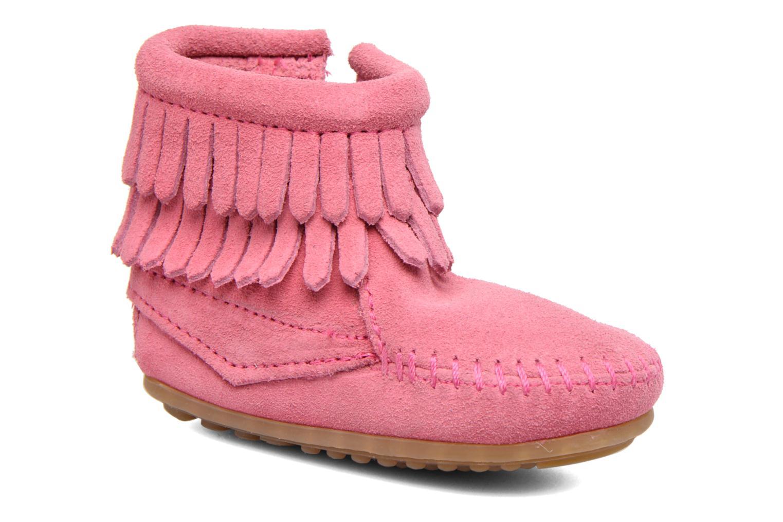Stivaletti e tronchetti Minnetonka Double Fringe side zip boot B Rosa vedi dettaglio/paio