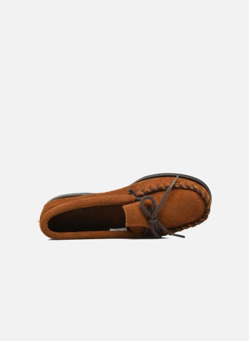 Mocassins Minnetonka Unbeaded Classic Moc Marron vue gauche