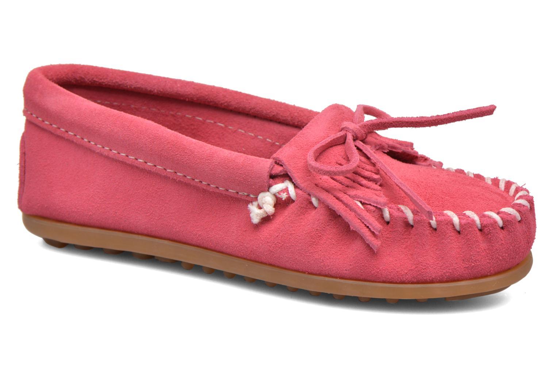 Slipper Minnetonka Kilty Moccasin E rosa detaillierte ansicht/modell