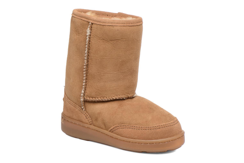 Stivali Minnetonka Short Sheepskin Pug Boot Marrone vedi dettaglio/paio
