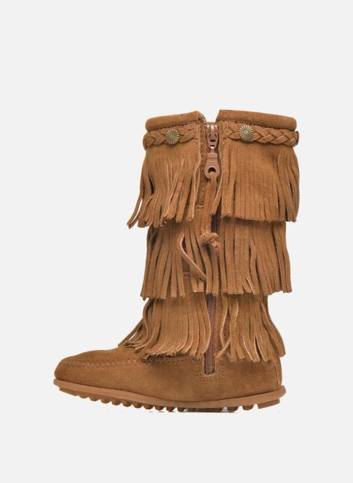 Stivali Minnetonka 3-Layer Fringe Boot E Marrone immagine frontale