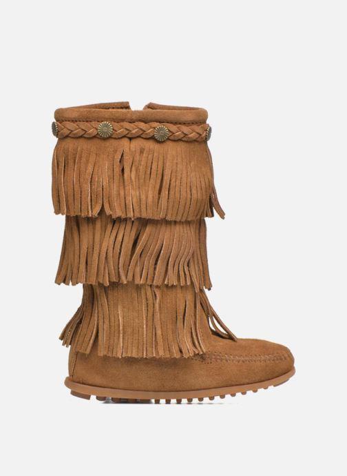Laarzen Minnetonka 3-Layer Fringe Boot E Bruin achterkant