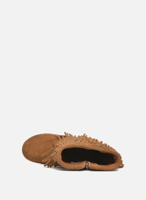 Stivali Minnetonka 3-Layer Fringe Boot E Marrone immagine sinistra